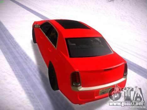 Chrysler 300C SRT8 2011 para GTA San Andreas vista posterior izquierda