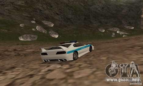 Jester Russian Police para GTA San Andreas vista hacia atrás