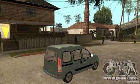 Renault Kangoo 2005 para la visión correcta GTA San Andreas