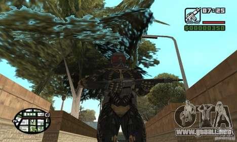 Crysis skin para GTA San Andreas sucesivamente de pantalla