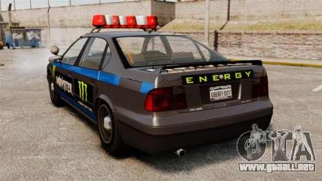 Policía Monster Energy para GTA 4 visión correcta