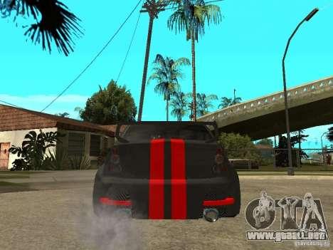 Dacia Logan Tuned para GTA San Andreas vista posterior izquierda