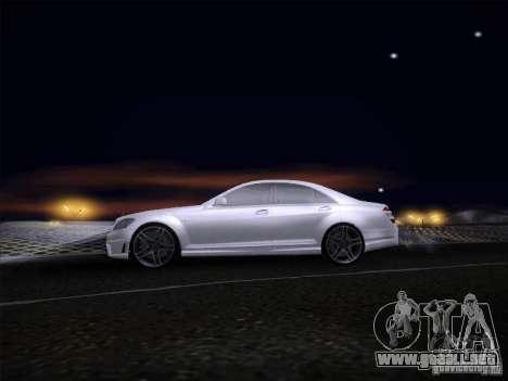 Mercedes-Benz S65 AMG V2.0 para GTA San Andreas vista posterior izquierda