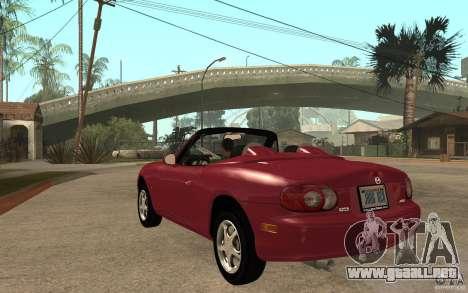 Mazda MX5 - Stock para GTA San Andreas vista posterior izquierda