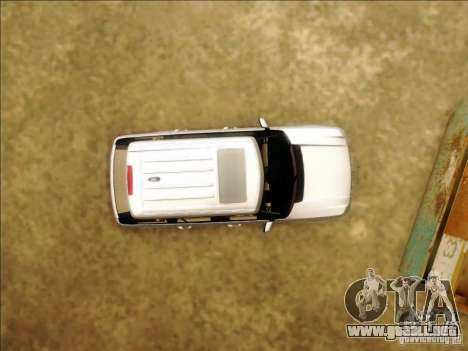 Land-Rover Range Rover Supercharged Series III para vista lateral GTA San Andreas