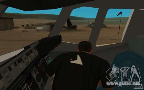 C-17 Globemaster III para GTA San Andreas vista hacia atrás