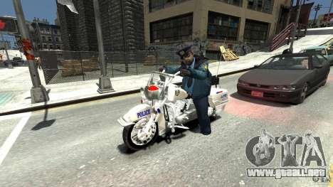 Police Bike para GTA 4 vista hacia atrás