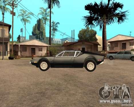 1971 De Tomaso Pantera para GTA San Andreas left