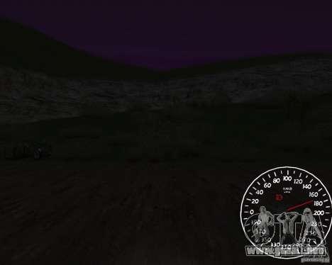 Beta velocímetro 1.5 para GTA San Andreas tercera pantalla