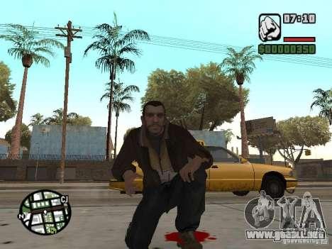 Niko Bellic para GTA San Andreas décimo de pantalla