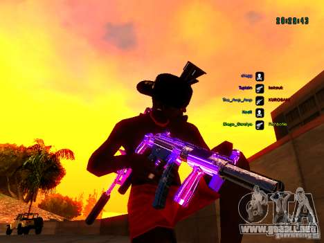 Cromo morado sobre armas para GTA San Andreas sexta pantalla