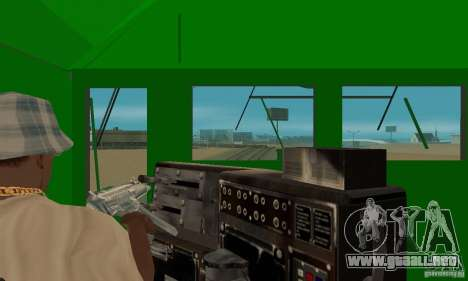 THE GO Transit Train para GTA San Andreas vista hacia atrás