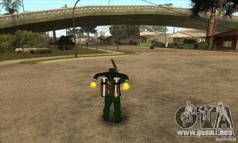 Disparo con una escopeta recortada con Jetpack para GTA San Andreas
