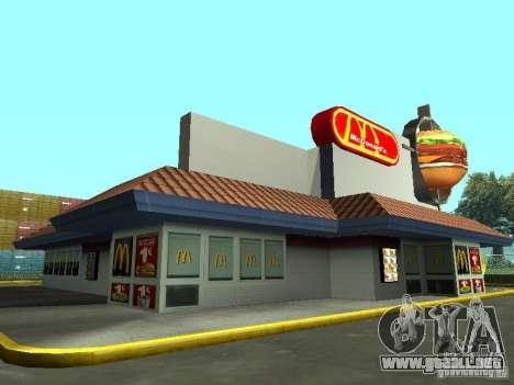 Mc Donalds para GTA San Andreas quinta pantalla