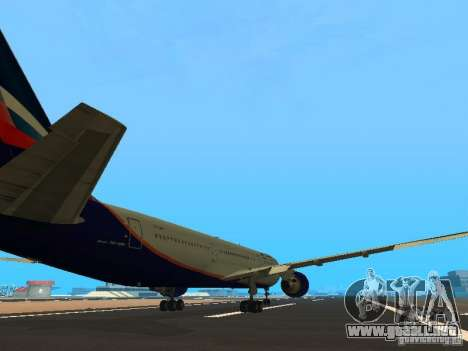Boeing 767-300 Aeroflot para la visión correcta GTA San Andreas
