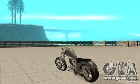 GTAIV Hellfury para GTA San Andreas vista posterior izquierda