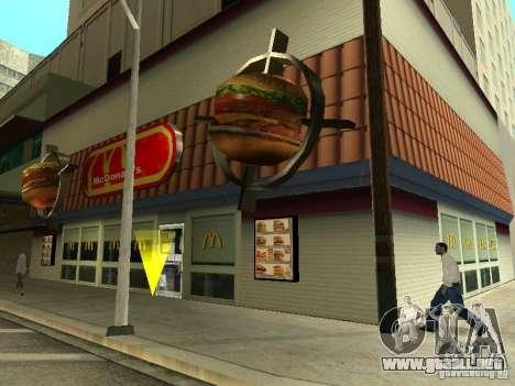 Mc Donalds para GTA San Andreas octavo de pantalla
