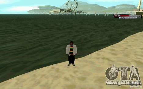 Jamaicana piel HD para GTA San Andreas quinta pantalla