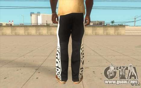 Reebok Sporthose para GTA San Andreas tercera pantalla