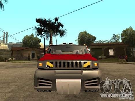 Hummer H2 NFS Unerground 2 para la visión correcta GTA San Andreas