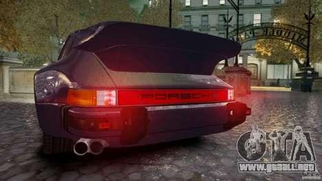 Porsche 911 1987 para GTA 4 Vista posterior izquierda