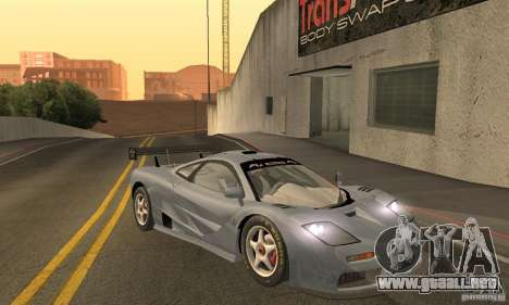 Mclaren F1 LM (v1.0.0) para GTA San Andreas vista hacia atrás