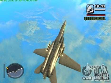 F 14 A TOMCAT para GTA San Andreas vista hacia atrás