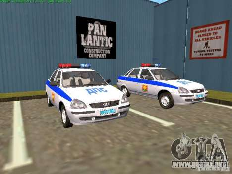 LADA 2170 policía para GTA San Andreas
