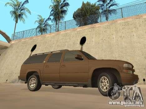 Chevrolet Suburban 2003 para GTA San Andreas vista posterior izquierda
