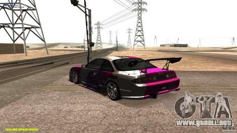 Nissan Silvia S14 kuoki RDS para GTA San Andreas vista posterior izquierda