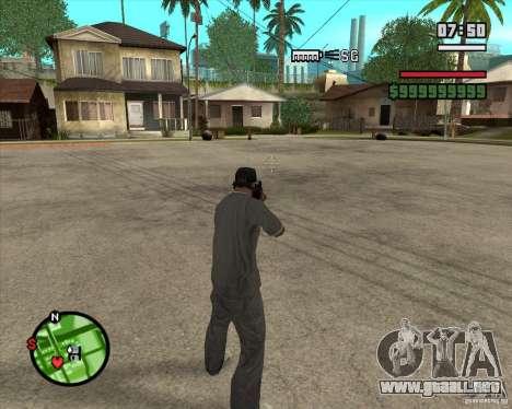 Campanas y silbatos para armas para GTA San Andreas sucesivamente de pantalla