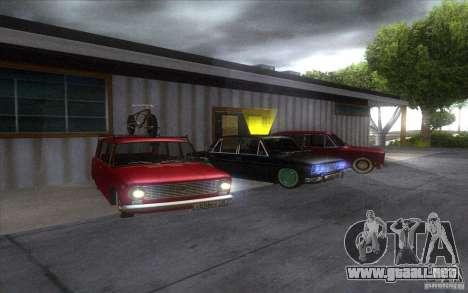 VAZ 2102 retro para GTA San Andreas vista hacia atrás