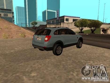 Chevrolet Captiva para GTA San Andreas left