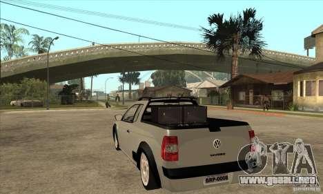 Volkswagen Saveiro G5 para GTA San Andreas vista posterior izquierda