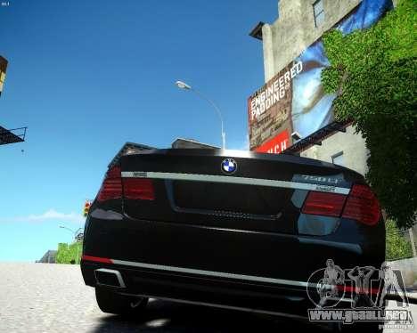 BMW 750Li 2013 para GTA 4 Vista posterior izquierda