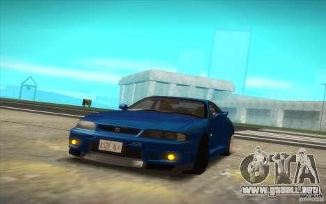 Nissan Skyline R33 GT-R V-Spec para la visión correcta GTA San Andreas