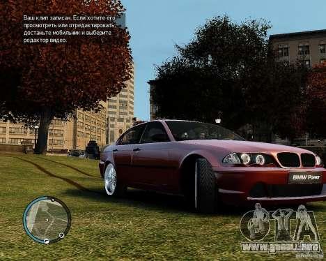 BMW 320i E46 v1.0 para GTA 4 left