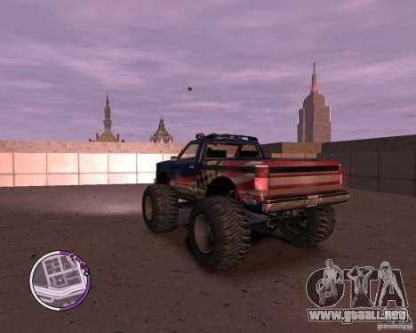 Monster from San Andreas para GTA 4 Vista posterior izquierda