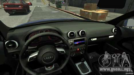 Audi S3 2006 v1.1 no es tonirovanaâ para GTA 4 vista interior