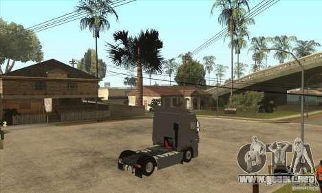 DAF XF para GTA San Andreas vista hacia atrás
