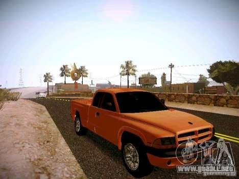 Dodge Ram 1500 Dacota para GTA San Andreas vista hacia atrás