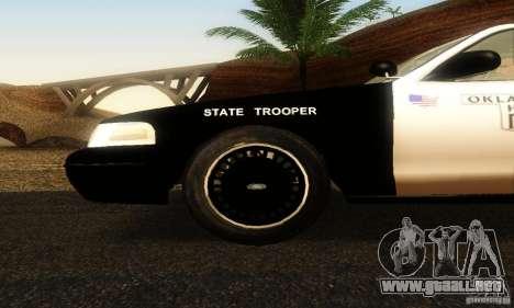 Ford Crown Victoria Oklahoma Police para la visión correcta GTA San Andreas