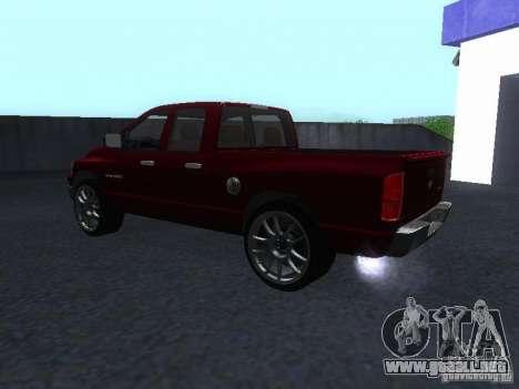 Dodge Ram 1500 v2 para GTA San Andreas vista posterior izquierda