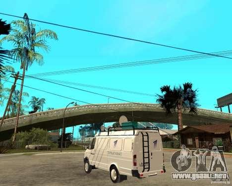 Canal de noticias de gacela 2705 para GTA San Andreas left