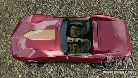 Chevrolet Corvette Sting Ray 1970 Custom para GTA 4 visión correcta
