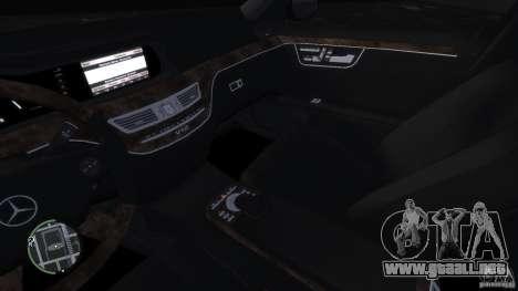Mercedes-Benz S65 AMG para GTA 4 vista superior