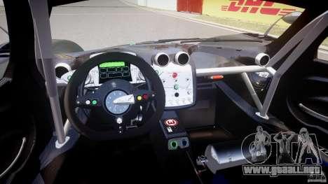 Pagani Zonda R 2009 para GTA 4 visión correcta