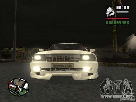 Toyota Crown Tunable para GTA San Andreas vista posterior izquierda