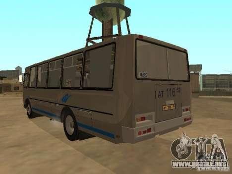 Surco-4234 para GTA San Andreas vista hacia atrás