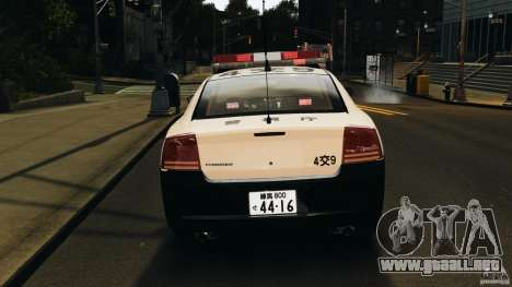 Dodge Charger Japanese Police [ELS] para GTA 4 vista superior